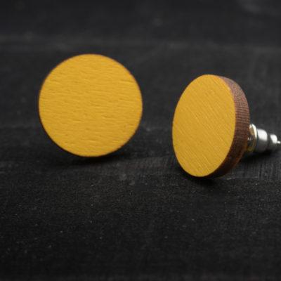 Sannincon keltaiset nappikorvakorut