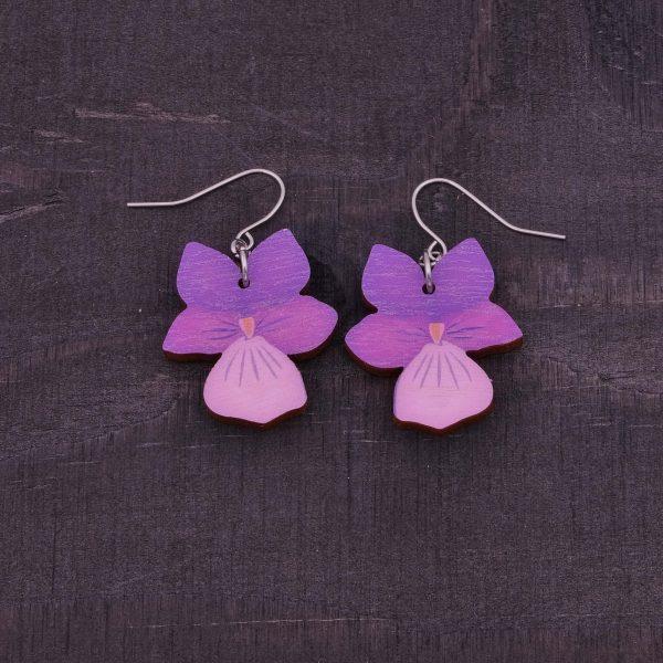 sannincon violetti orvokki korvakoru